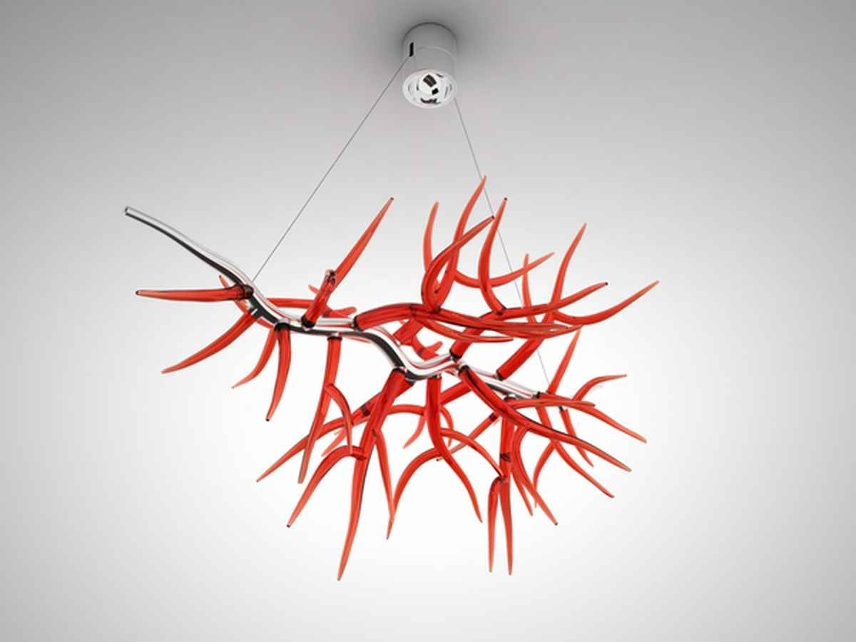 Modern Red Chandelier Intended For Fashionable 6 Strange Chandeliers (View 7 of 15)