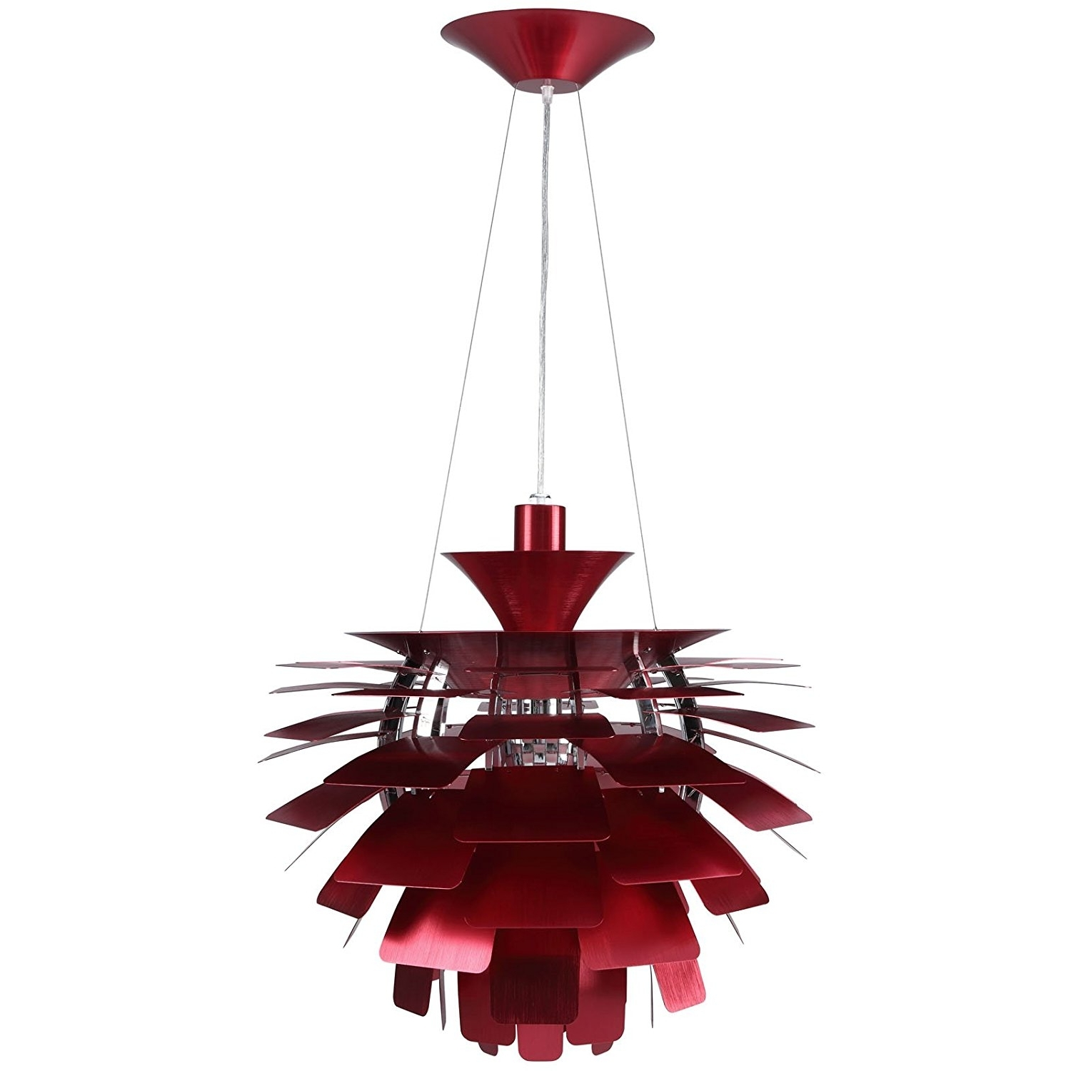 "Modern Red Chandelier Within Famous Amazon: Modway 24"" Petal Chandelier Modern Lamp In Red: Home (View 11 of 15)"