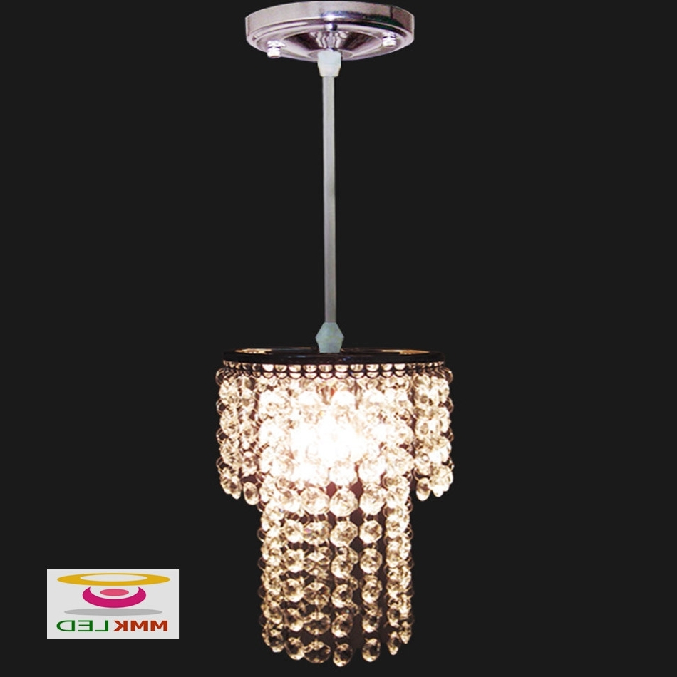 Modern Small Chandeliers In 2018 Single Head Crystal Chandeliers Restaurant Bedroom Hallway Lighting (View 8 of 15)