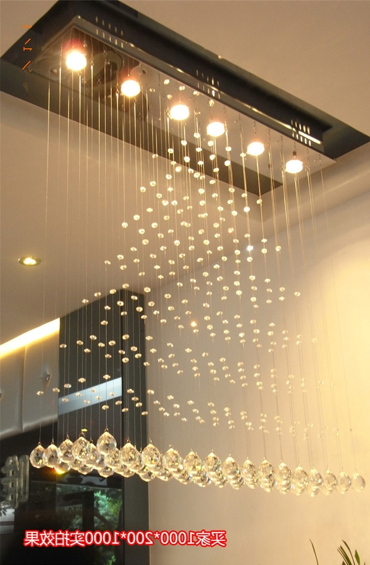 Modern Square Crystal Chandelier Rotating Stainless Steel Led Throughout Latest Restaurant Chandeliers (View 7 of 15)