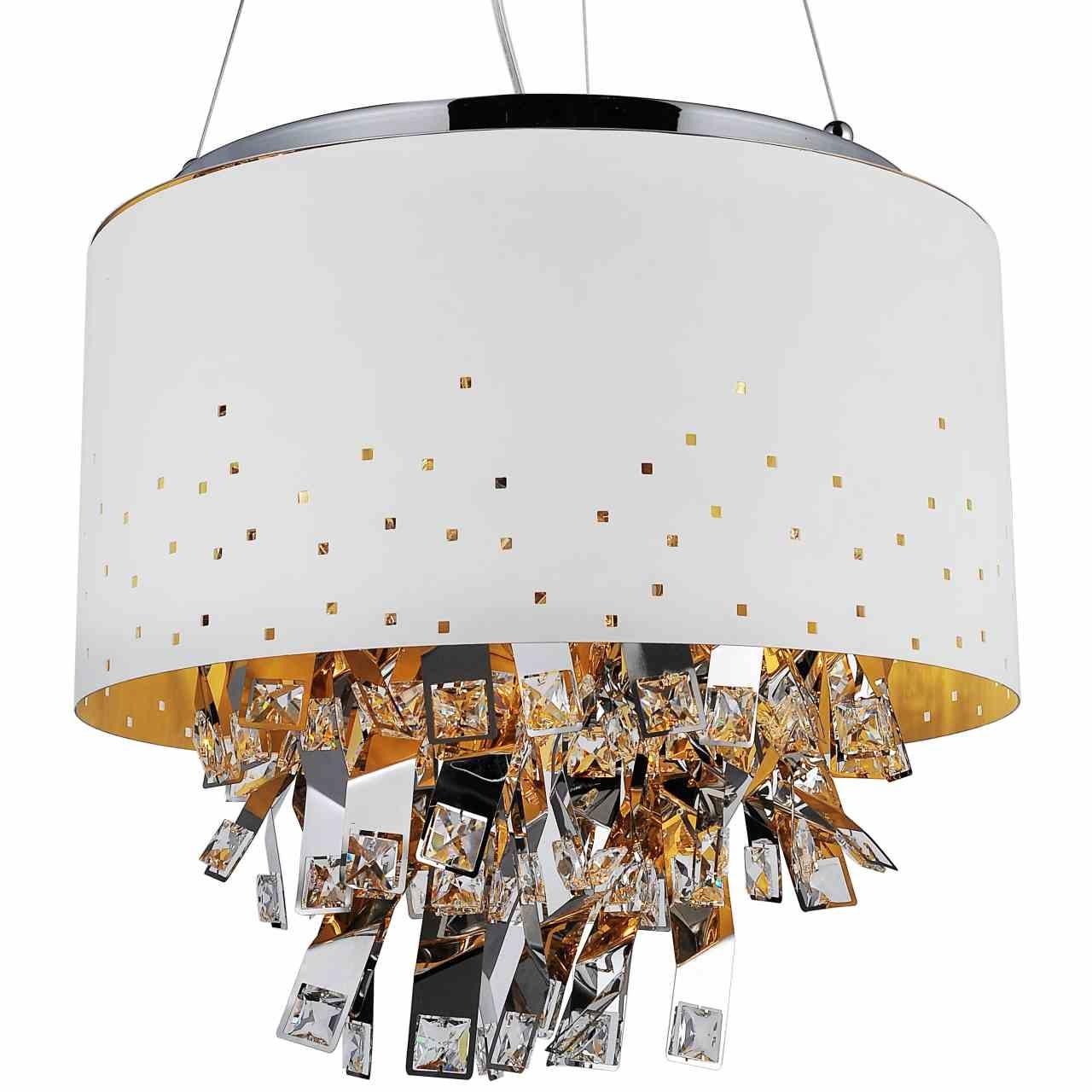 Modern White Chandelier Regarding Latest Brizzo Lighting Stores (View 7 of 15)