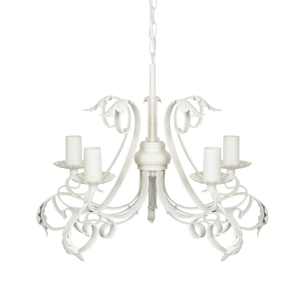 Modern White Chandelier Throughout Current Chandeliers Design : Wonderful White Distressed Chandelier Awesome (View 11 of 15)