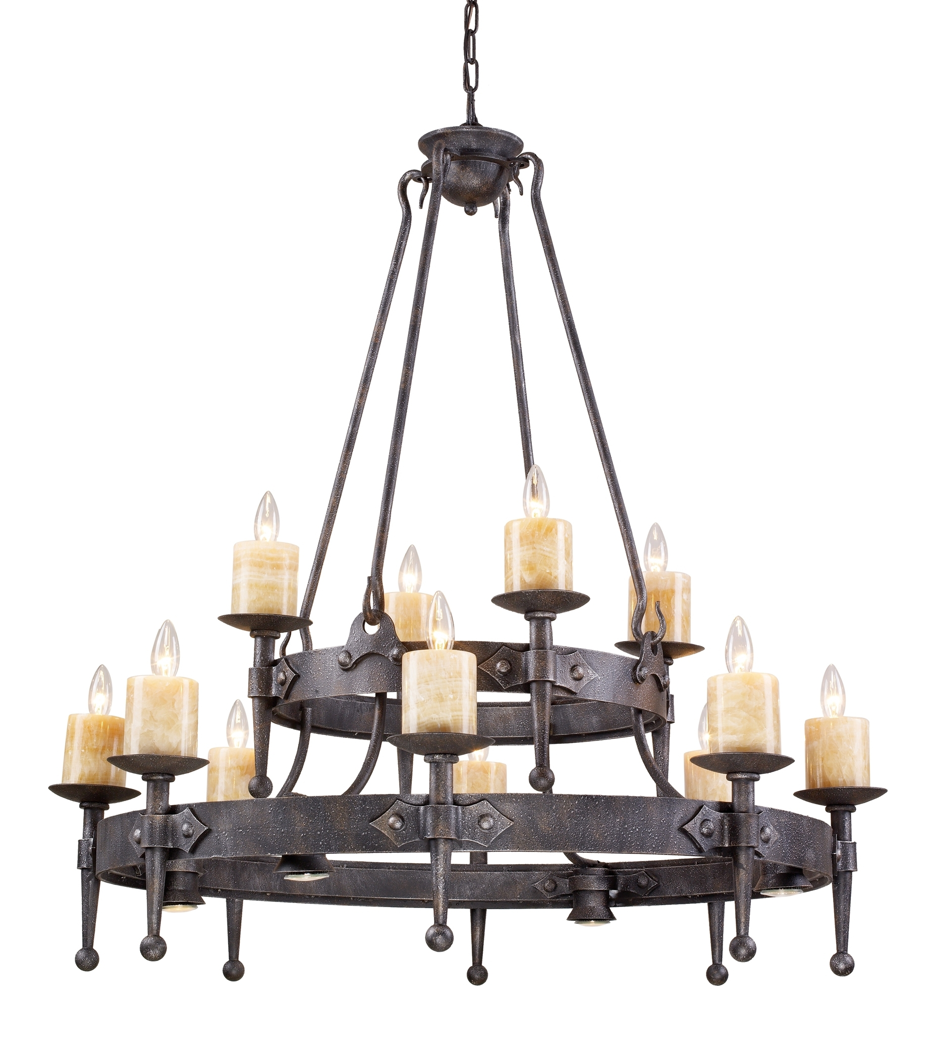 Modern Wrought Iron Chandeliers Intended For Most Up To Date Contemporary Rustic Wrought Iron Chandelier Throughout Wooden (View 6 of 15)