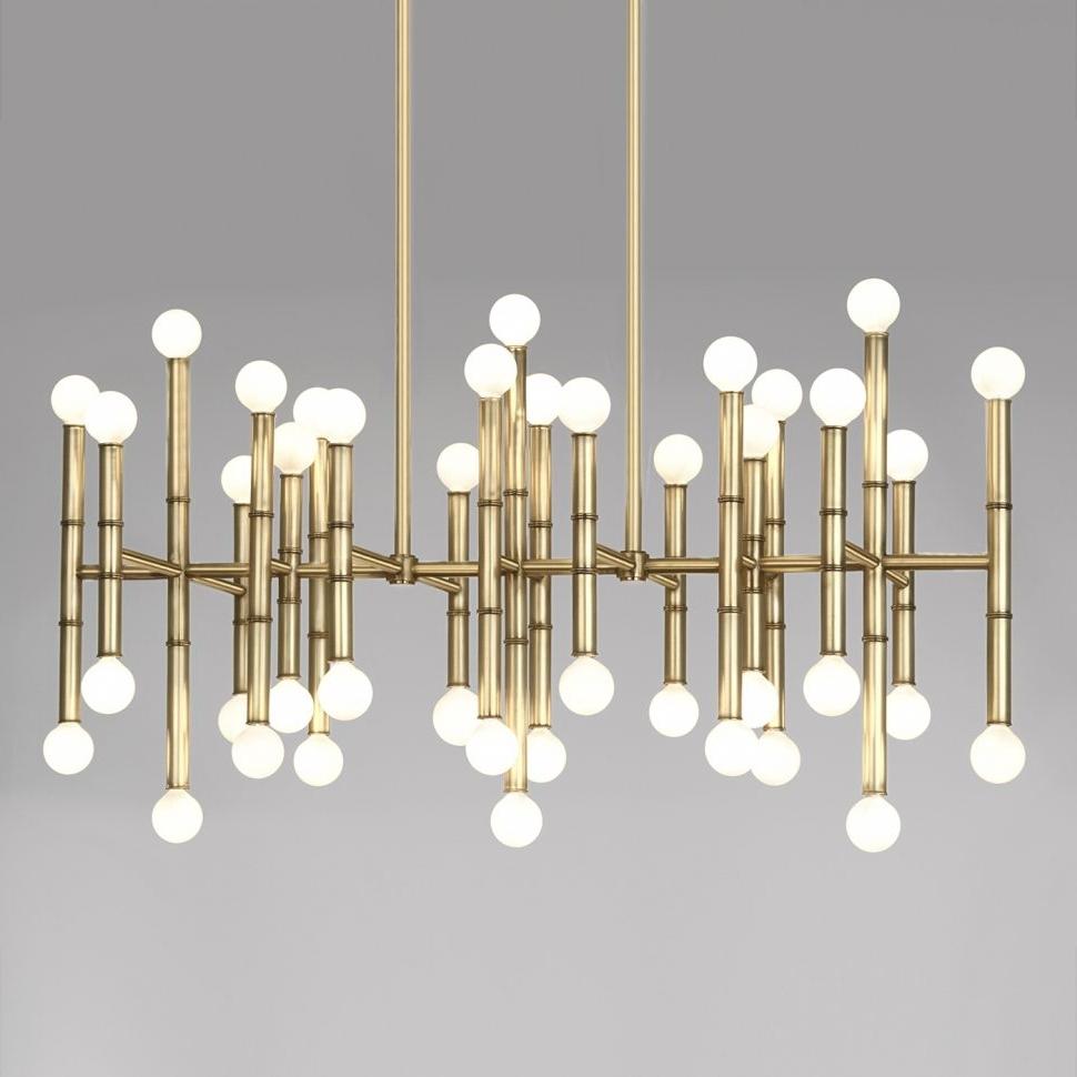 Modern Wrought Iron Chandeliers With Regard To Popular Lighting : Contemporary Designer Chandeliers Modern Bathroom (View 11 of 15)