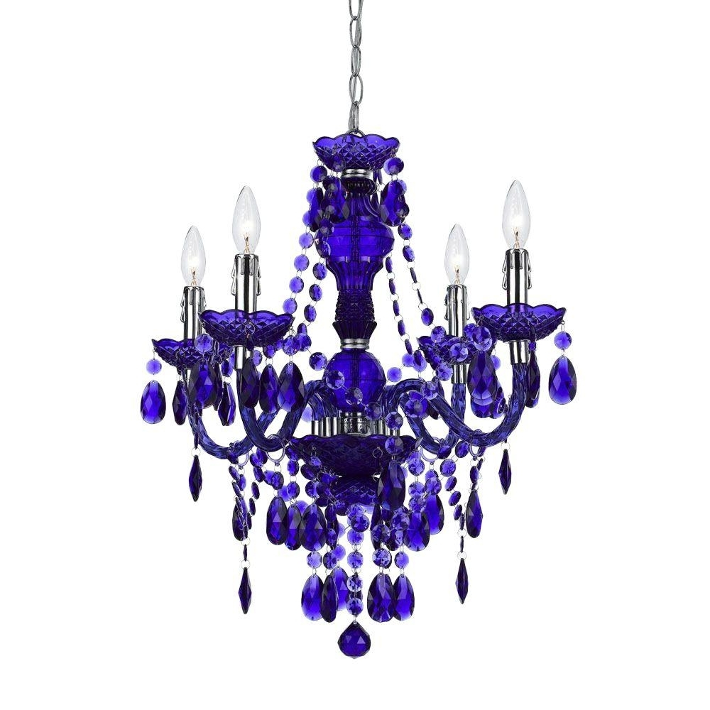 Most Current Af Lighting Naples 4 Light Metallic Mini Chandelier With Iridescent Within Purple Crystal Chandeliers (View 7 of 15)