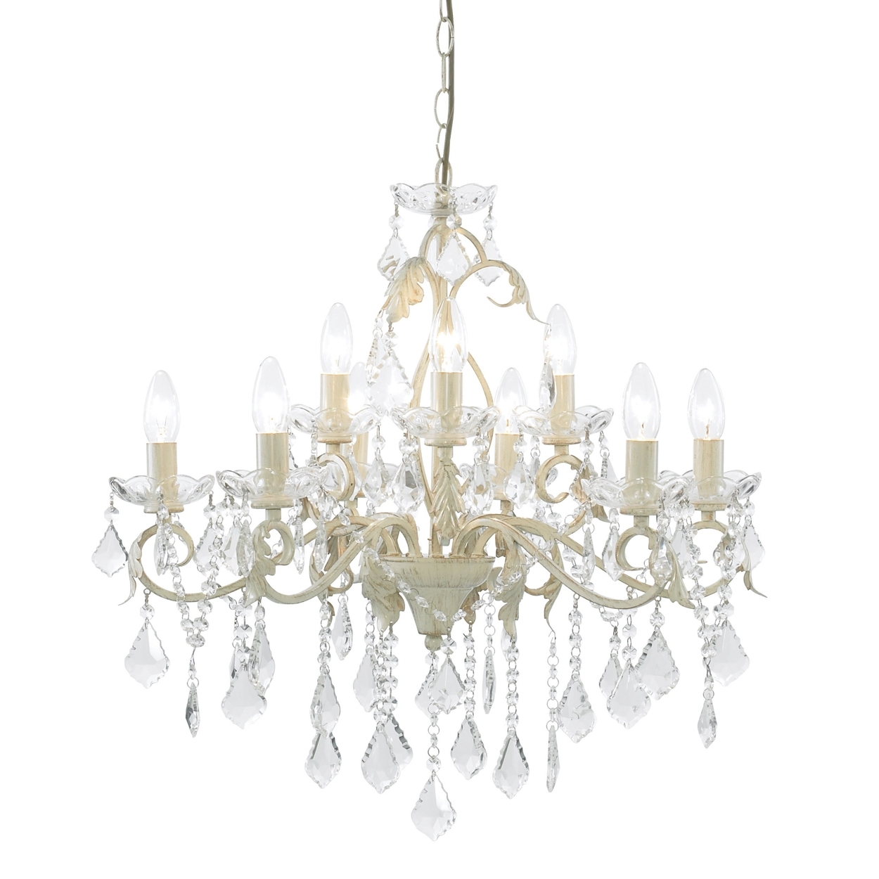 Most Current Chandeliers Design : Magnificent Cream And Gold Crystal Chandelier Intended For Large Cream Chandelier (View 9 of 15)
