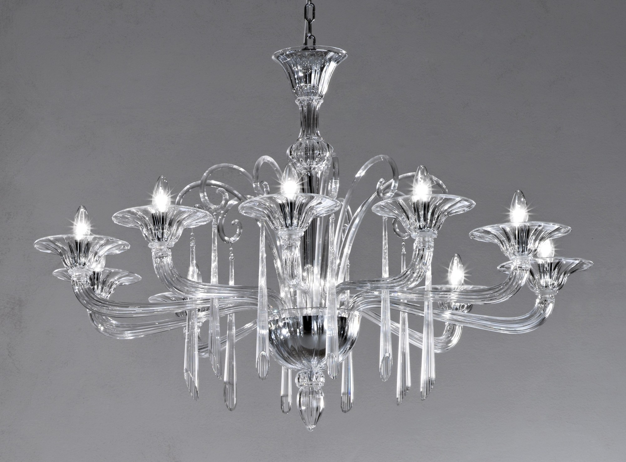 Most Current Crystal Clear Modern Murano Chandelier Dml6012K10 – Murano Lighting Throughout Murano Chandelier (View 8 of 15)