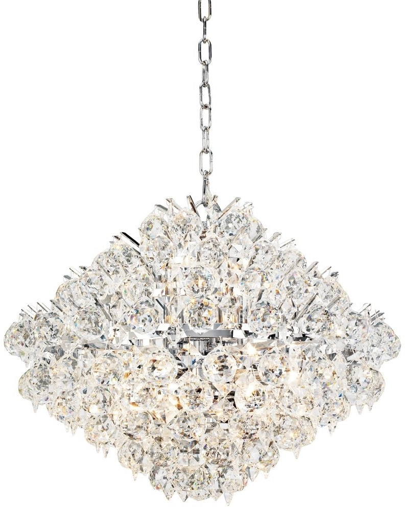Most Current Elegant Unique Crystal Chandeliers Modern Silver Crystal Chandelier Within Modern Silver Chandelier (View 6 of 15)