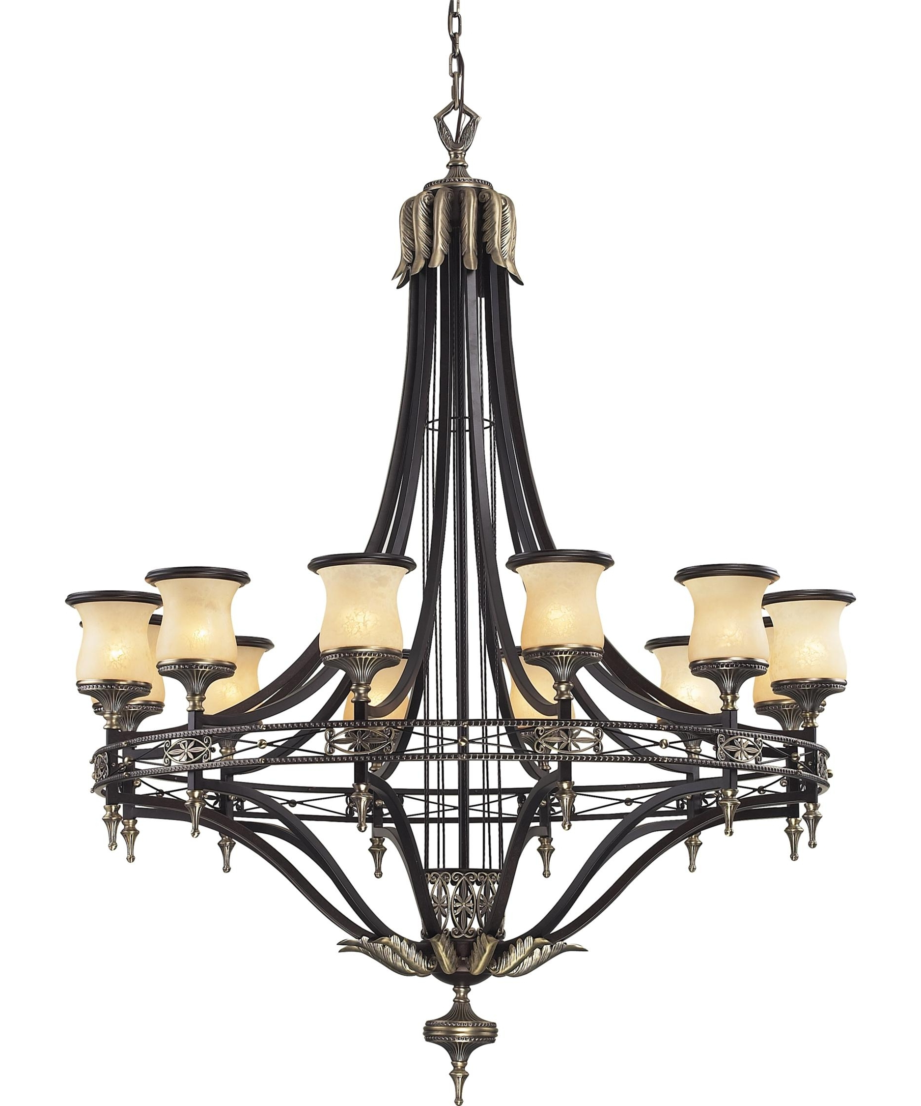 Most Current Georgian Chandeliers Intended For Elk Lighting 2434 12 Georgian Court 48 Inch Wide 12 Light Chandelier (View 12 of 15)