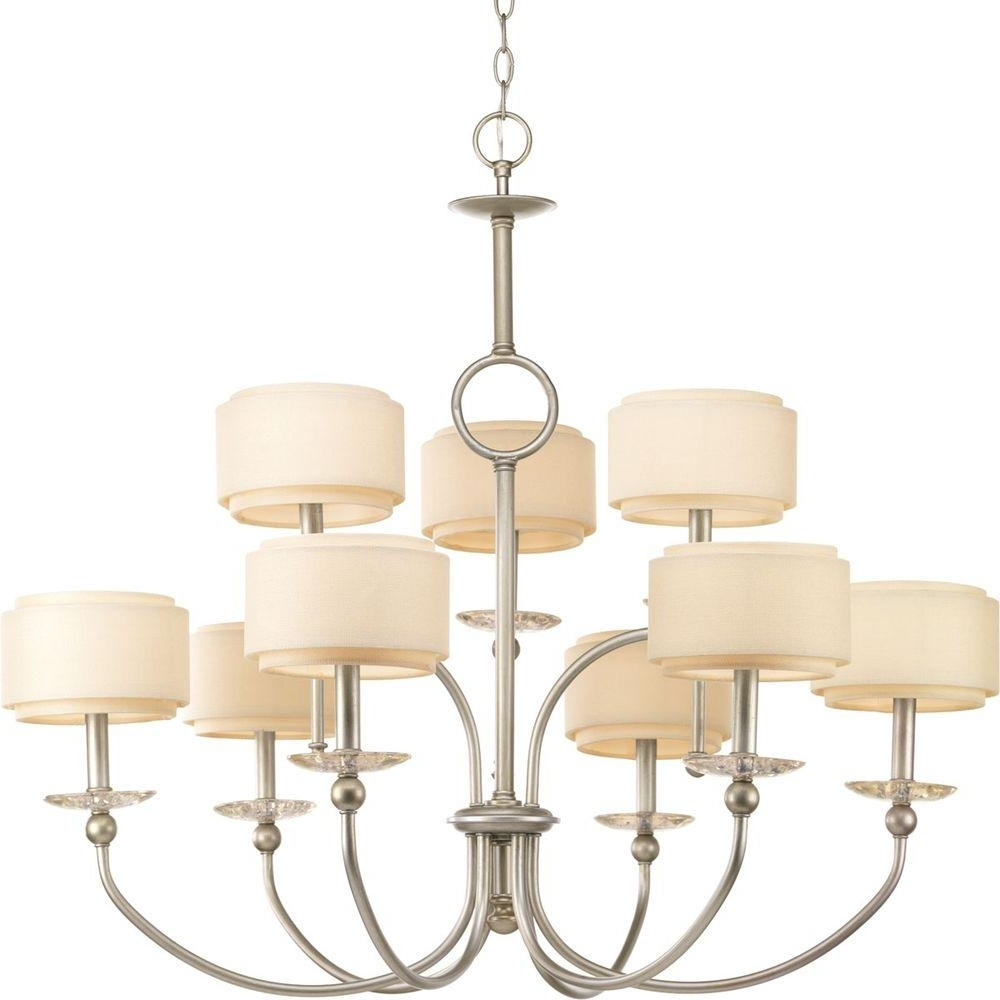 Most Current Linen Chandeliers Within Progress Lighting – Stainless Steel – Chandeliers – Lighting – The (View 6 of 15)