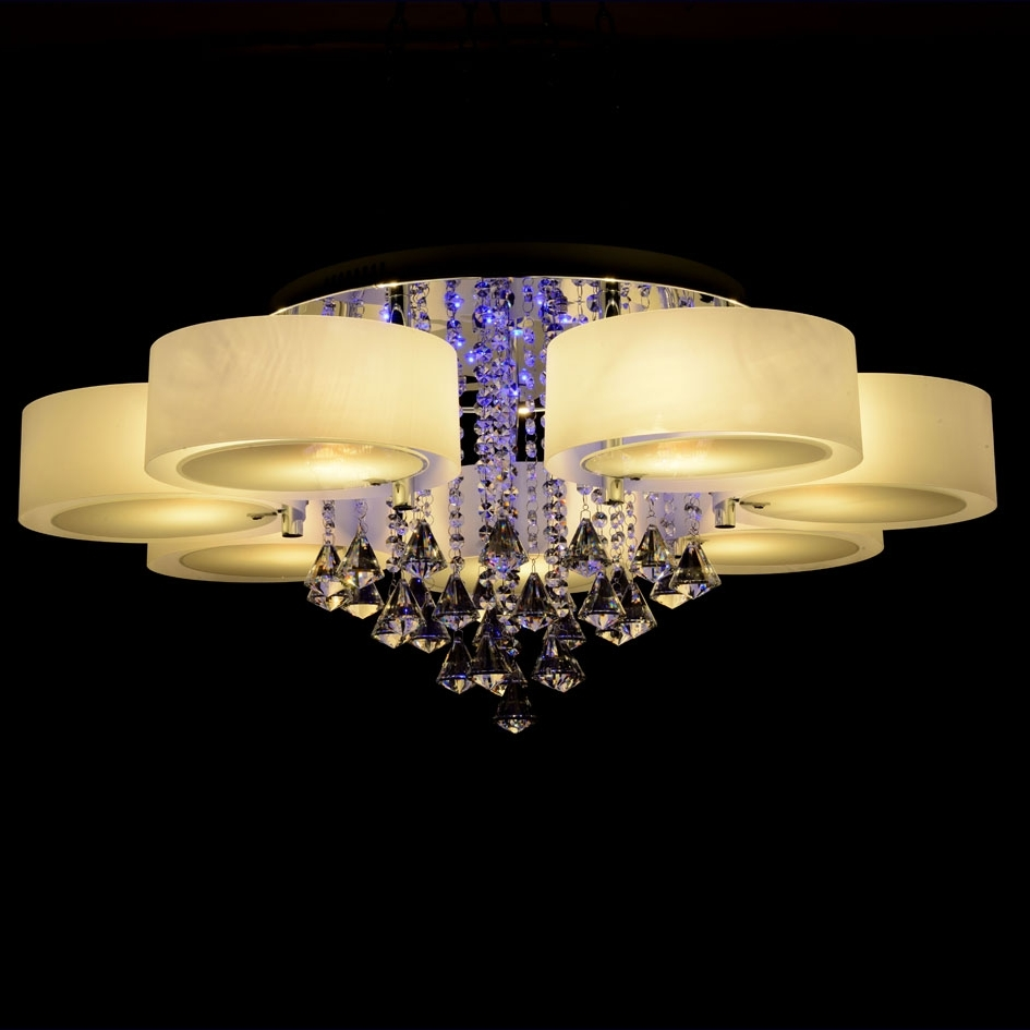 Most Current Modern Led Chandelier Regarding Online Shop Ecolight Rgb Modern Chandelier Crystal With Remote (View 8 of 15)