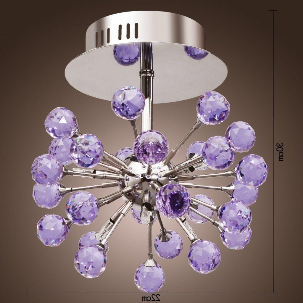 Most Current Purple Crystal Chandelier Lights Pertaining To Chandelier ~ Chandelier : Exquisite Purple Chandelier Chandelier (View 6 of 15)