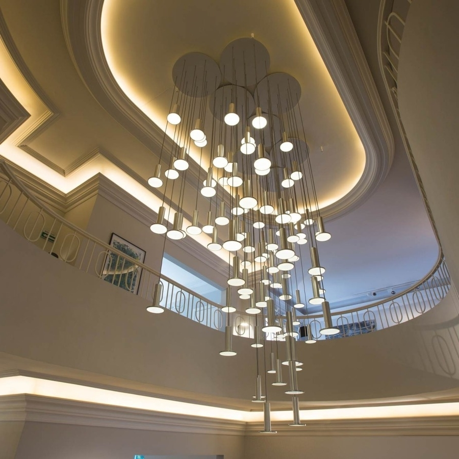 Most Current Stairway Chandelier Height — John Robinson Decor : The Right Way To In Stairway Chandelier (View 8 of 15)