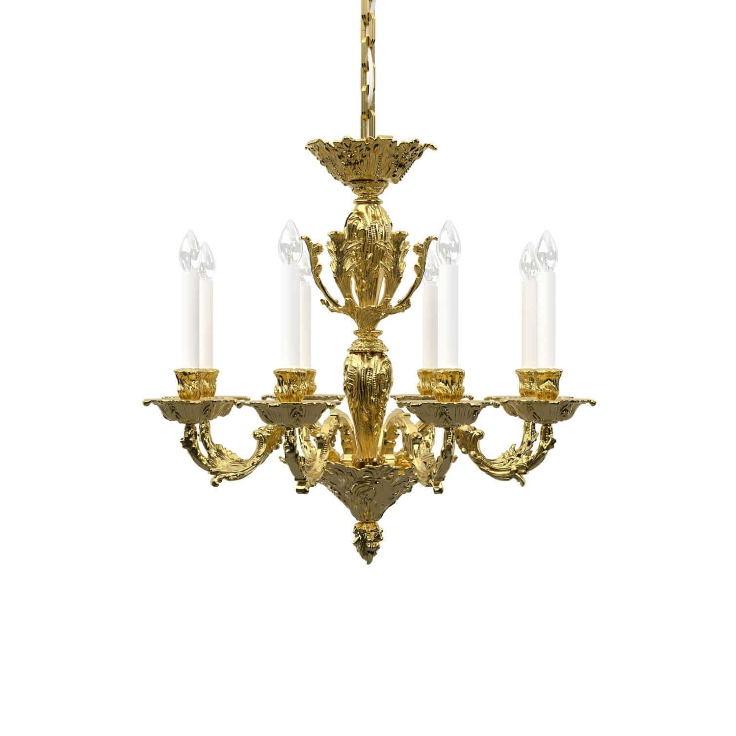 Most Current Traditional Chandelier Within Traditional Chandelier / Brass / Nickel – Louis : Historic Design (View 15 of 15)