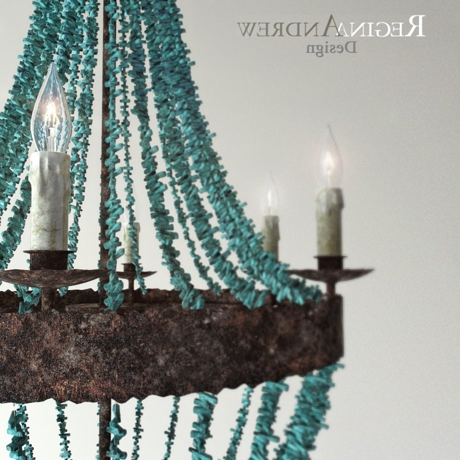 Most Current Turquoise Beads Six Light Chandeliers For Turquoise Beads Six Light Chandelier 3D Model – Cgstudio (View 12 of 15)
