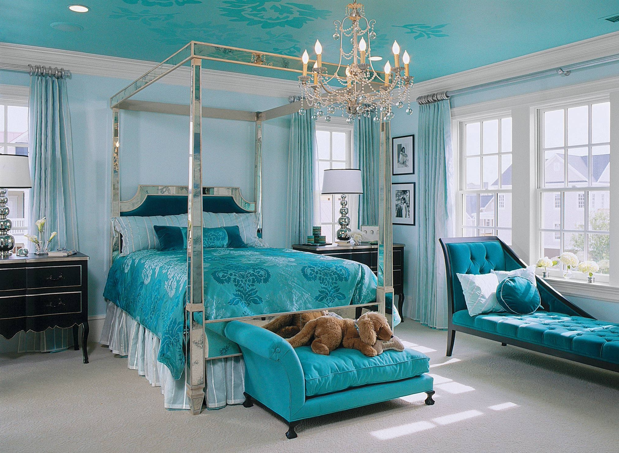 Most Current Turquoise Bedroom Chandeliers With Bedroom: Turquoise Room Ideas For Modern Bedroom Design Idea (View 9 of 15)