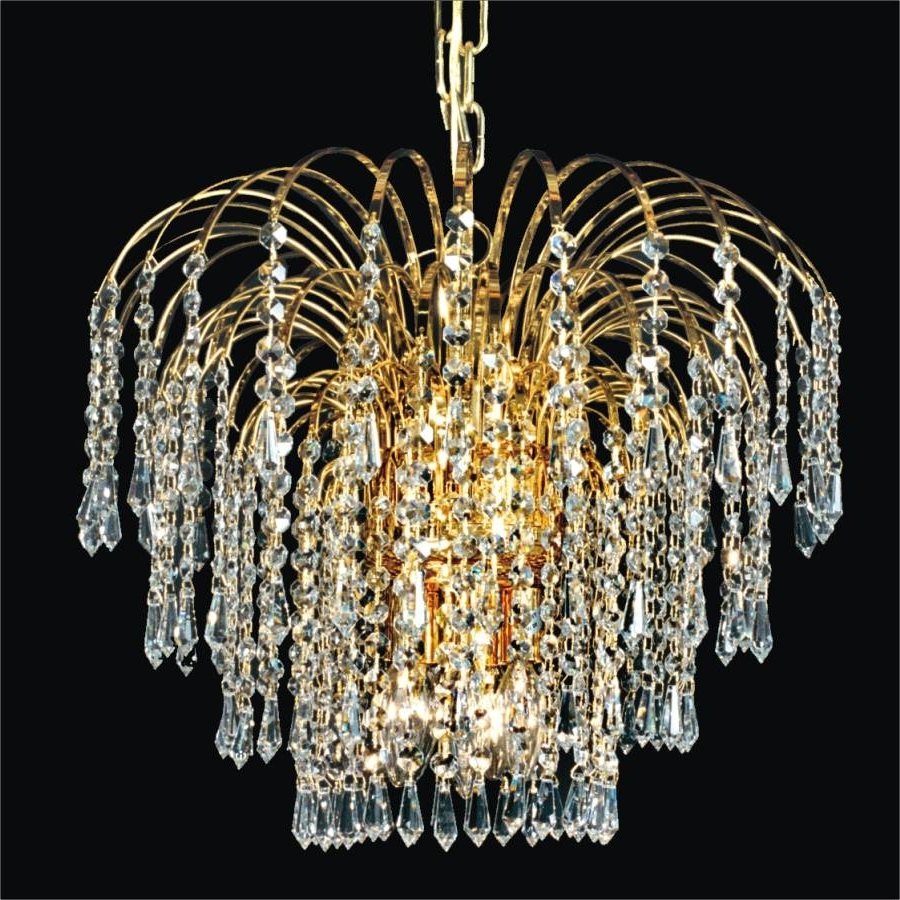 Most Current Weird Chandeliers Inside Waterfall Crystal Chandelier (View 3 of 15)