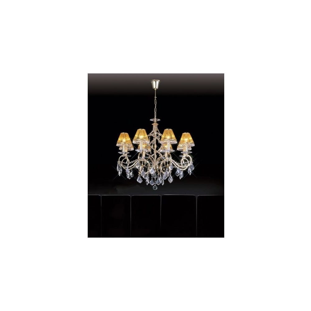 Most Popular Buy Gold Plated Light Asfour Lead Crystal Chandelier (View 13 of 15)