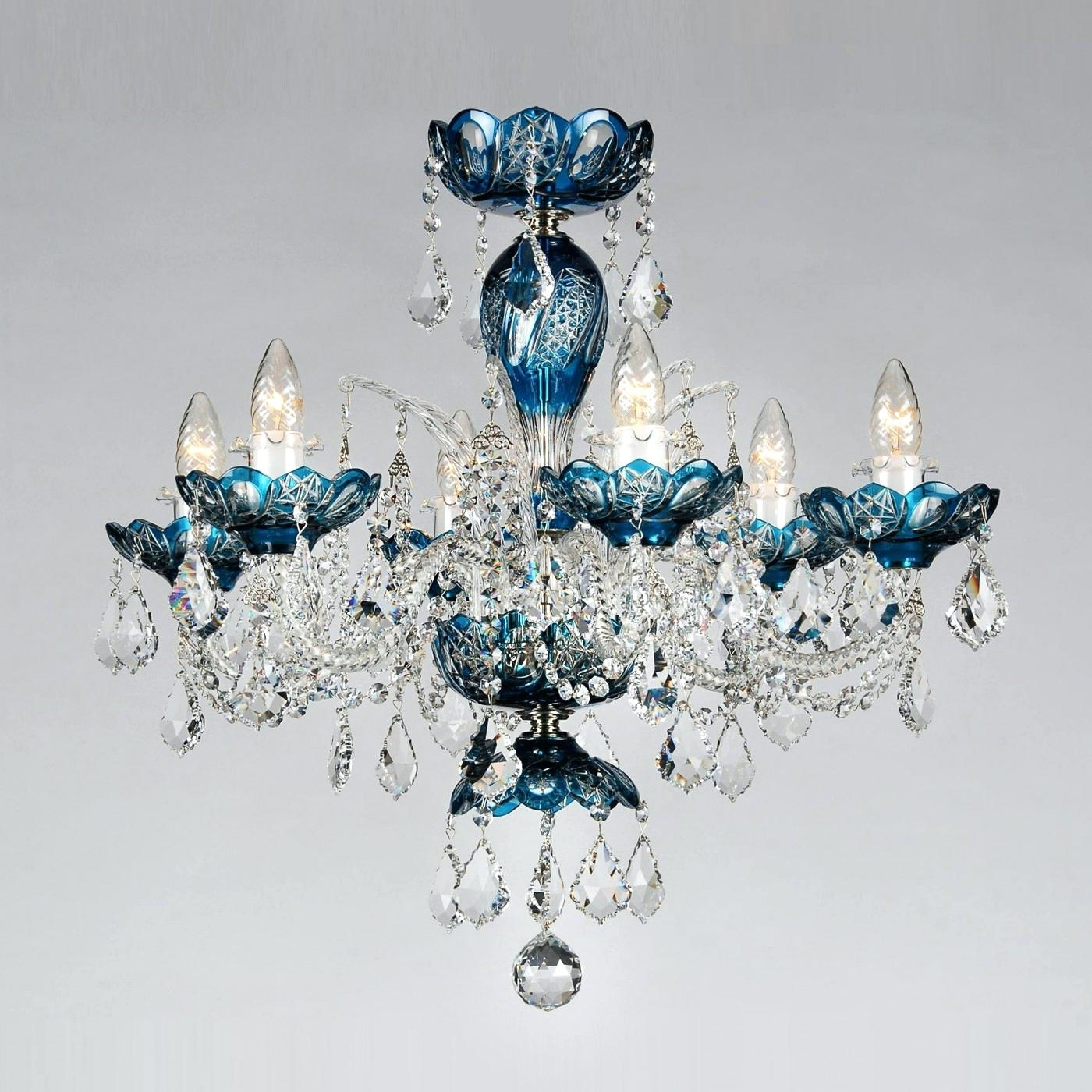 Most Popular Chandelier : Turquoise Chandelier Crystals Classic Lighting Light Pertaining To Turquoise Chandelier Crystals (View 5 of 15)