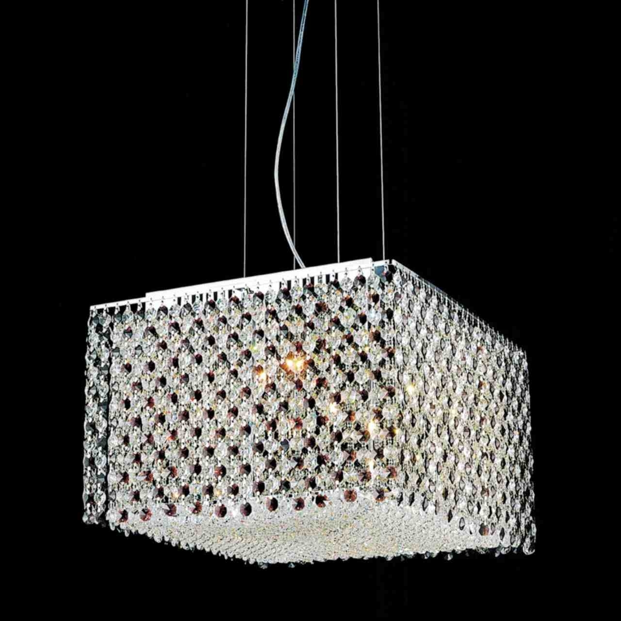 Most Popular Crystal Modern Light Chandelier – The Modern Crystal Chandelier Regarding Modern Light Chandelier (View 12 of 15)