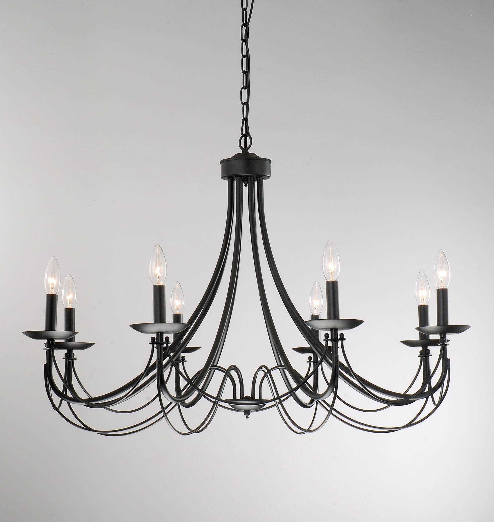 Featured Photo of Large Black Chandelier