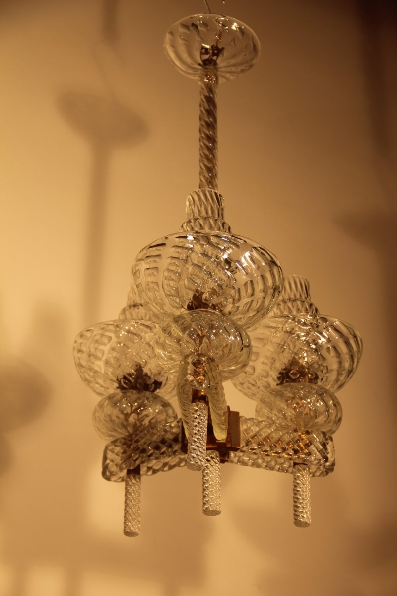 Most Popular Mid Century Italian Chandeliercarlo Scarpa For Venini, 1940 For For Italian Chandelier Style (View 9 of 15)