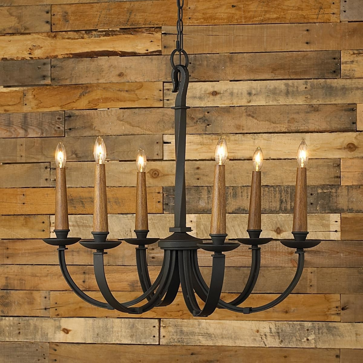 Most Popular Modernized Rustic Iron Chandelier – Small (View 12 of 15)