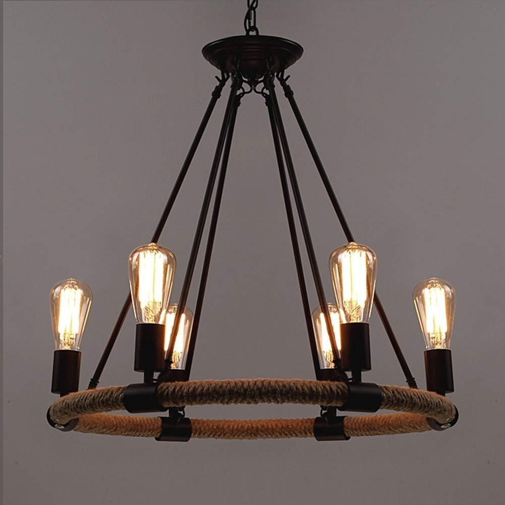 Most Popular Retro Chandeliers With Regard To Baycheer Hl371768 Industrial Retro Vintage Style With (View 8 of 15)
