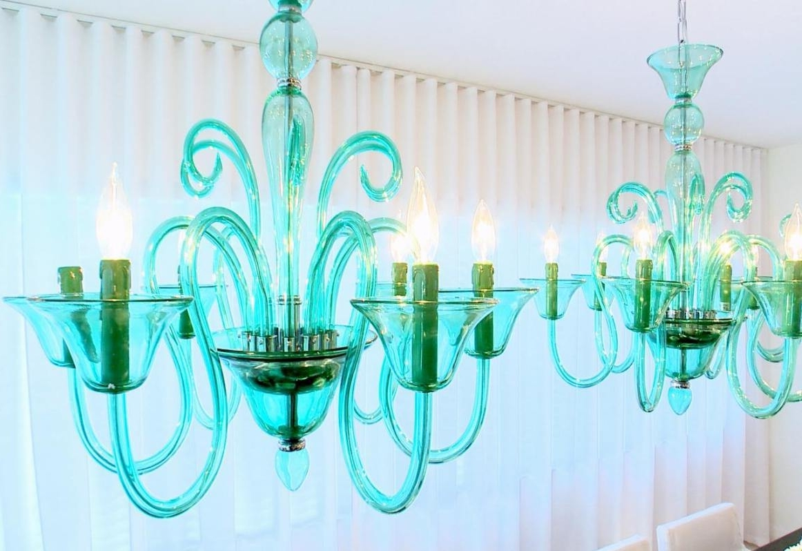Most Popular Turquoise Blue Glass Chandeliers In Top 42 Phenomenal Green Glass Chandeliers Awesome Turquoise Blue (View 8 of 15)