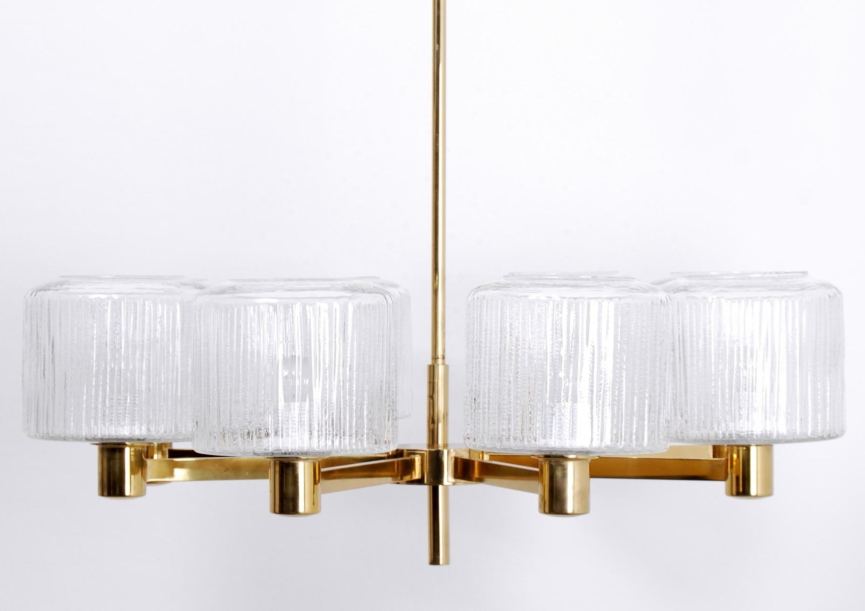 Most Popular Vintage Large Scandinavian Chandelier In Brass For Sale At Pamono With Regard To Scandinavian Chandeliers (View 6 of 15)
