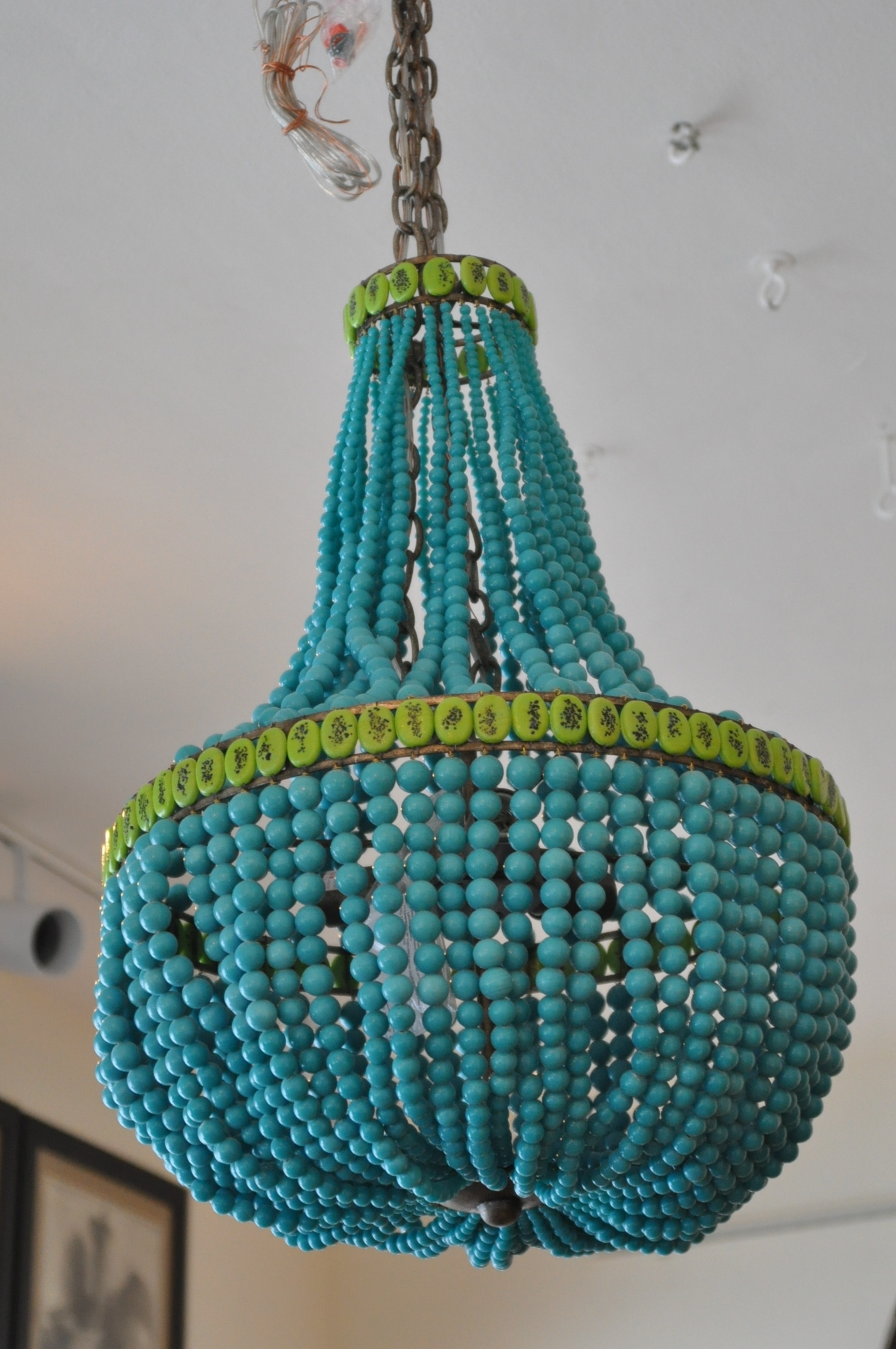 Most Recent Beaded Empire Style Chandelier – Mecox Gardens With Regard To Turquoise Empire Chandeliers (View 4 of 15)