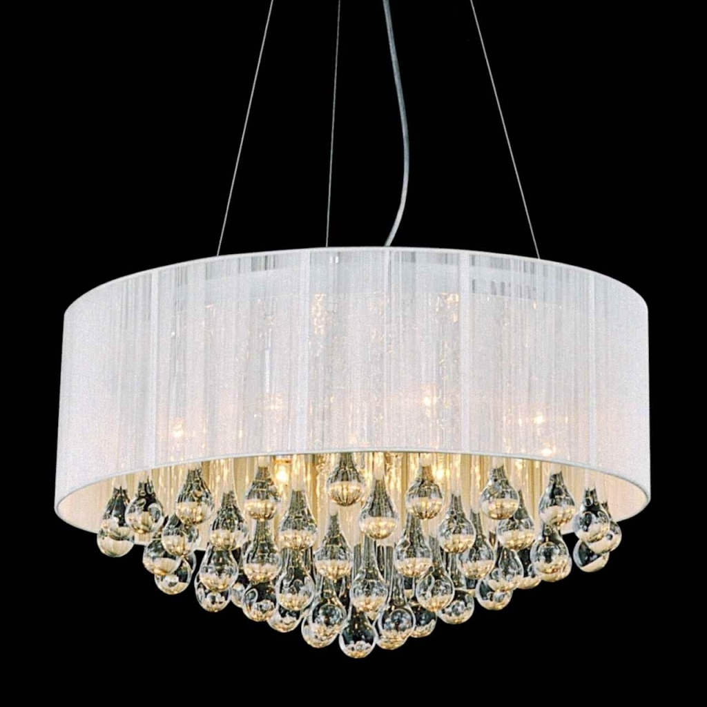 Most Recent Beautiful White Chandelier With Shades Furniture Round Modern Pertaining To White Contemporary Chandelier (View 11 of 15)