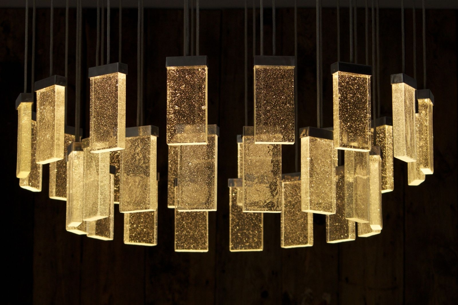 Most Recent Contemporary Chandelier / Glass / Aluminum / Led – 32 Grand Cru Intended For Modern Glass Chandeliers (View 7 of 15)