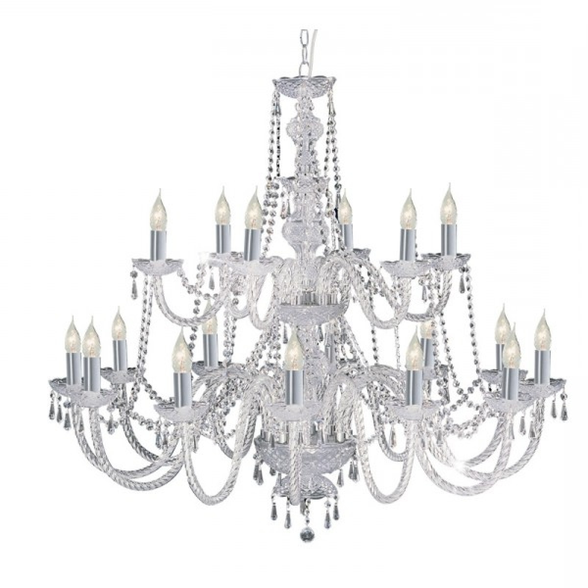 Most Recent Georgian Style Crystal Chandelier With Barley Twist Glass And Chrome With Georgian Chandelier (View 11 of 15)