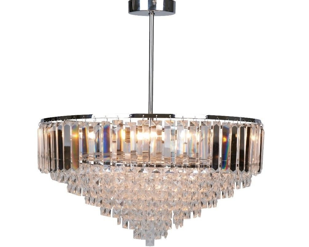 Most Recent Laura Ashley Large Vienna Crystal Chandelier (View 6 of 15)