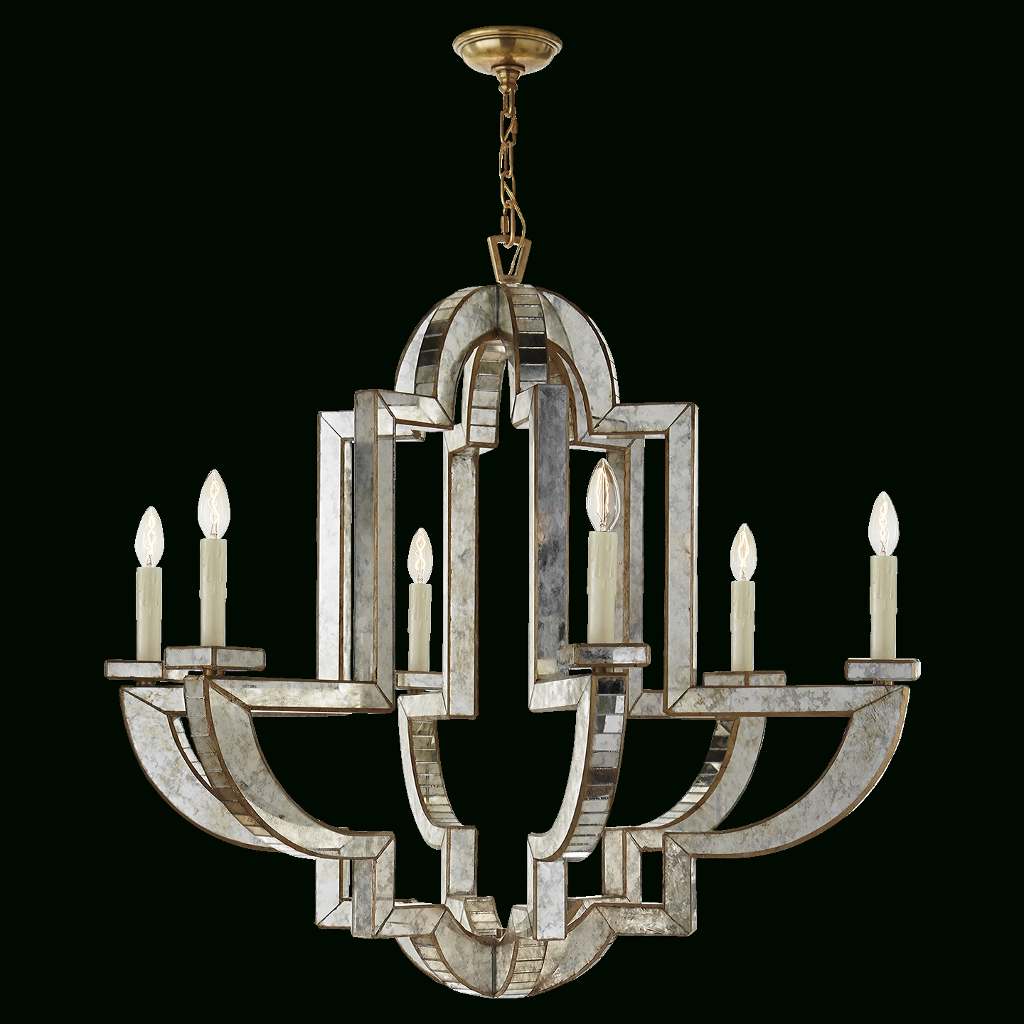 Most Recent Lido Large Chandelier In Antique Mirror And Hand Rubbed Antique For Mirror Chandelier (View 9 of 15)