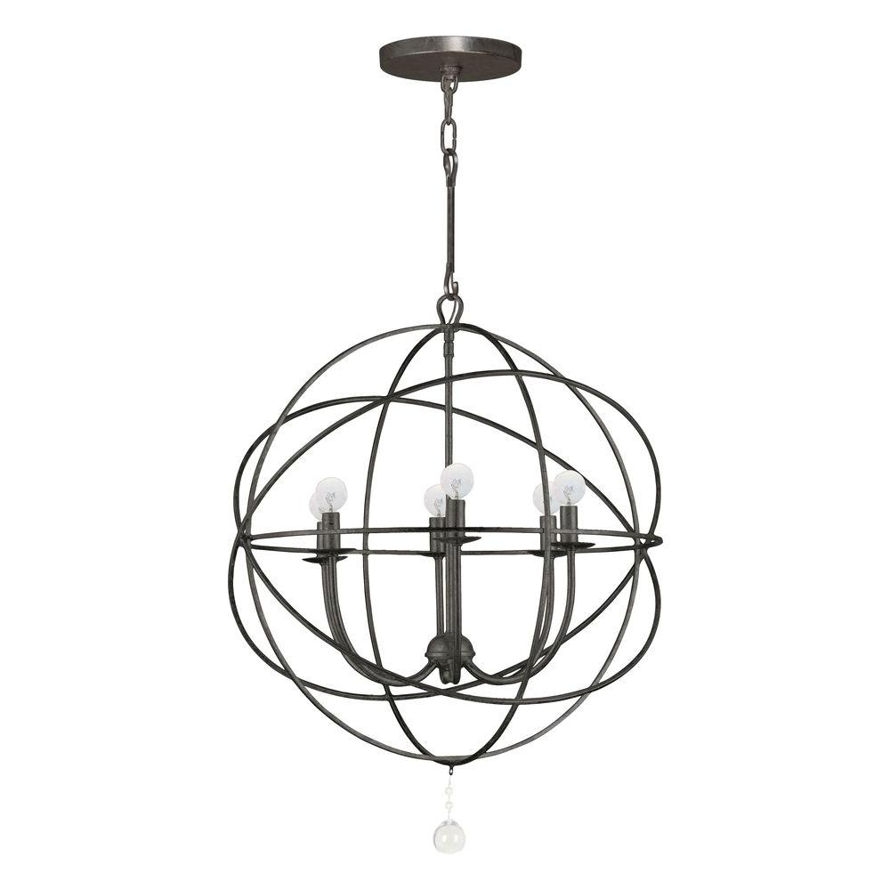 Most Recent Orb Chandelier Intended For Home Decorators Collection Solaris Collection 6 Light English Bronze (View 6 of 15)