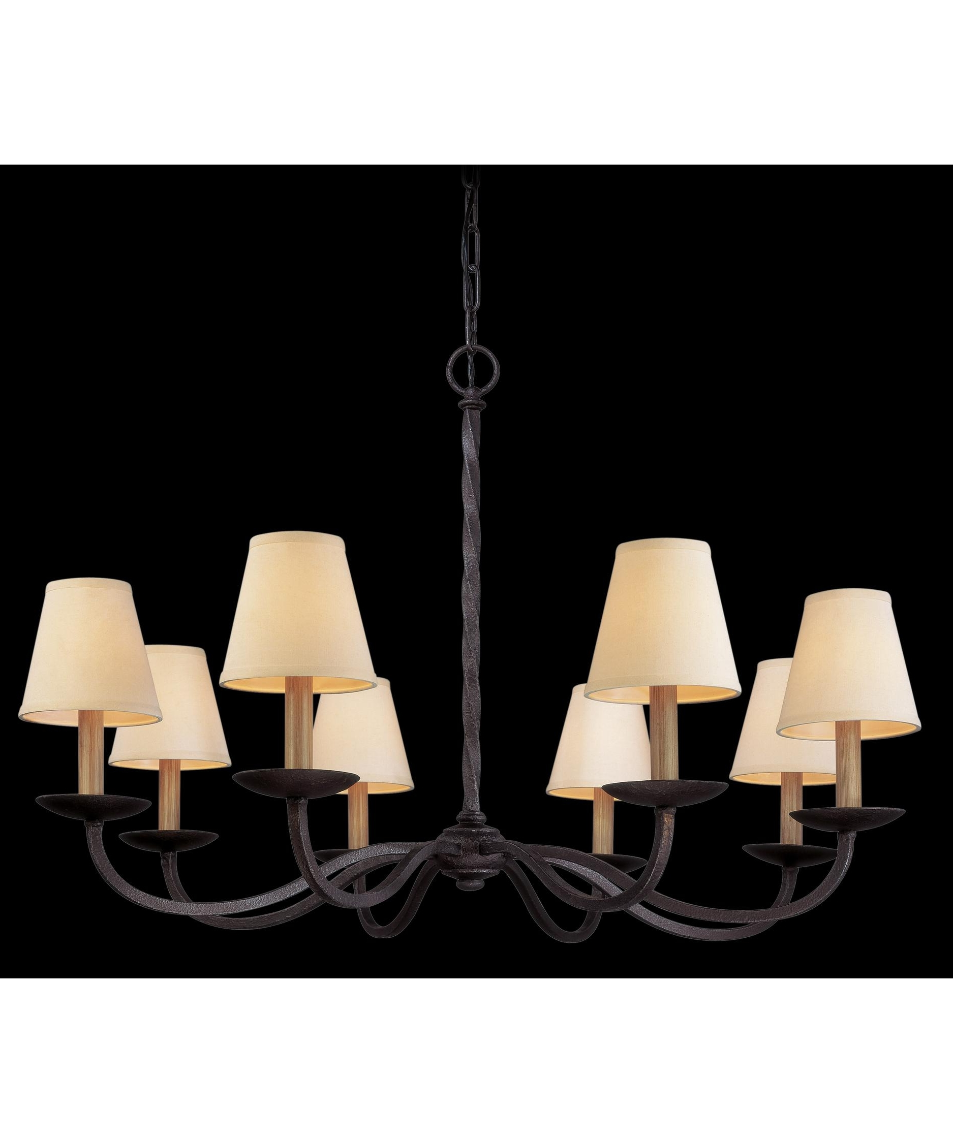 Most Recent Troy Lighting F2668 Alexander 38 Inch Wide 8 Light Chandelier With Linen Chandeliers (View 9 of 15)