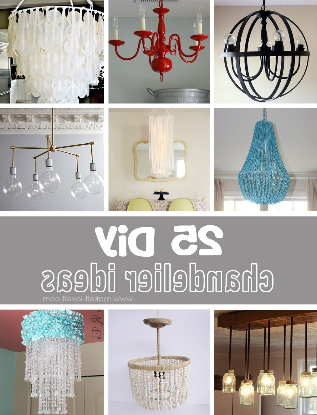 Most Recent Turquoise Chandelier Lamp Shades Regarding 25 Diy Chandelier Ideas (View 6 of 15)