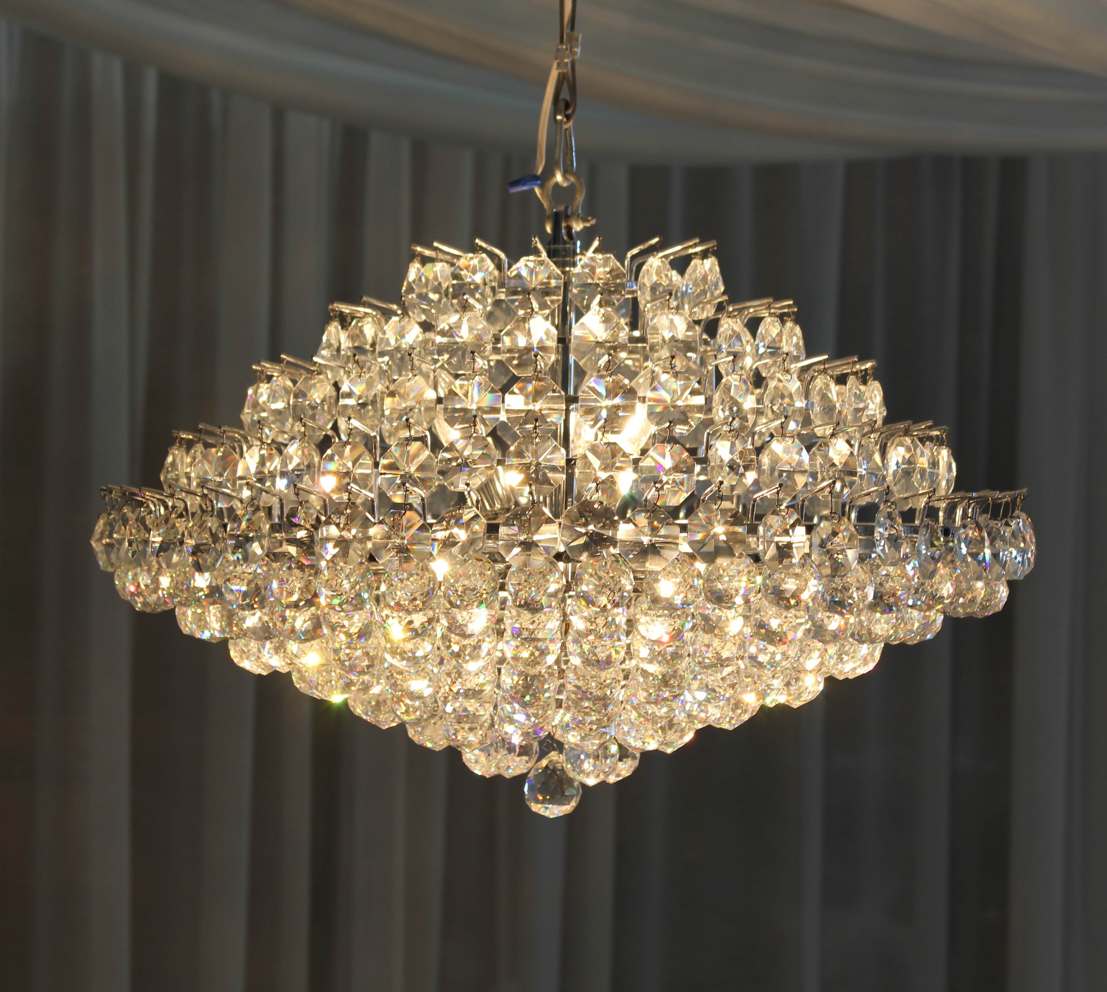 Most Recent Unusual Chandeliers Within Light : Crystal Chandelier Cristal Town Country Event Rentals (View 3 of 15)