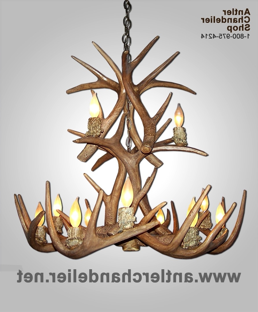 Most Recent White Antler Chandelier Intended For Small Med Chandeliers (View 14 of 15)