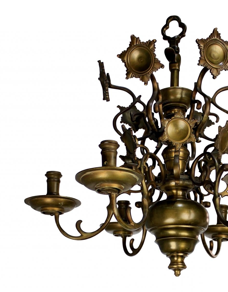 Most Recently Released Antique Flemish Brass Chandelier, 1840S For Sale At Pamono In Flemish Brass Chandeliers (View 2 of 15)