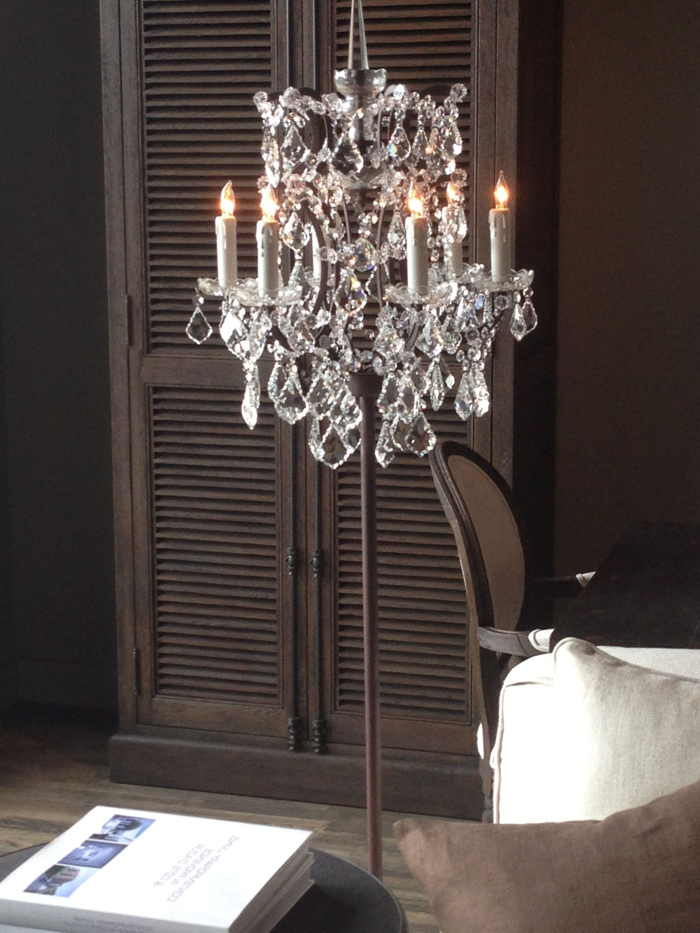 Most Recently Released Chandelier Floor Lamp; I Own This Floor Lamp And It Is So Beautiful Intended For Tall Standing Chandelier Lamps (View 10 of 15)