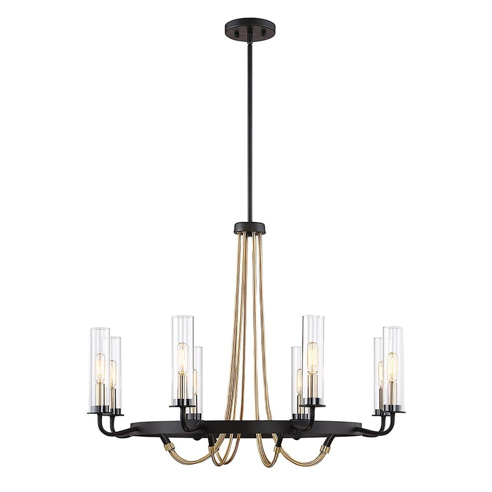 Most Recently Released Filament Design 8 Light Vintage Black Chandelier Cli Sh265549 – The With Regard To Vintage Black Chandelier (View 9 of 15)