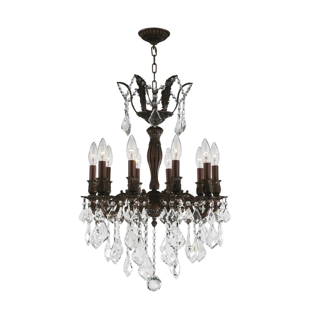 Most Recently Released Flemish Brass Chandeliers Within Worldwide Lighting Versailles 10 Light Flemish Brass Chandelier With (View 14 of 15)