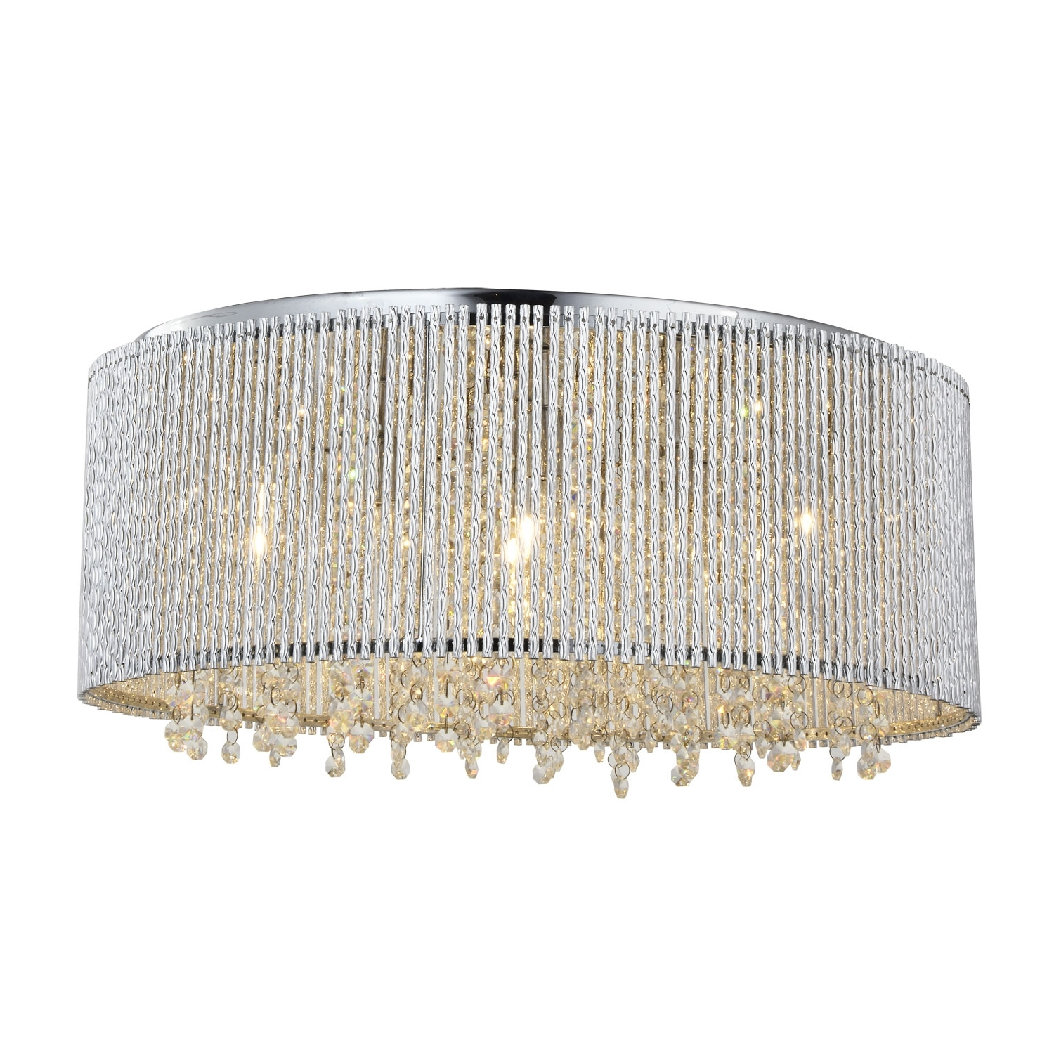 Most Recently Released Flush Chandelier With Crystalline Round Flush Mount Crystals Chandelier (View 14 of 15)