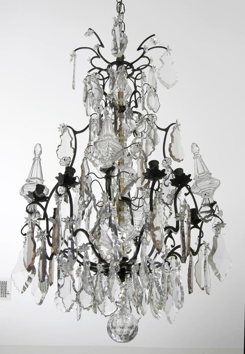 Most Recently Released French Bronze Chandelier Inside Louis Xv Crystal And Bronze Antique Chandelier (View 14 of 15)