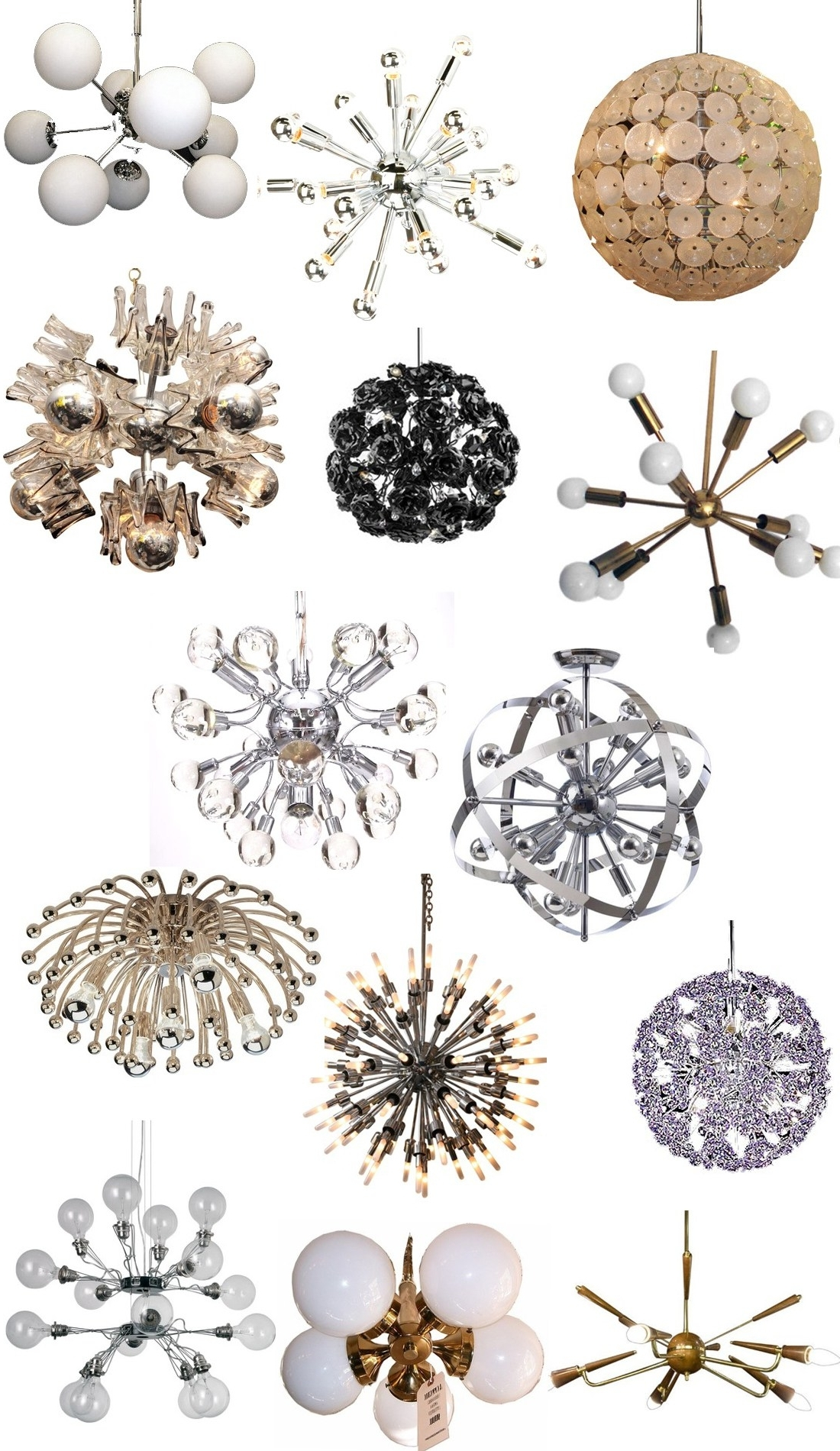 Most Recently Released Mini Sputnik Chandeliers Pertaining To Get The Look: Sputnik Chandeliers – Stylecarrot (View 11 of 15)
