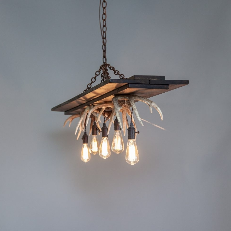 Most Recently Released Modern Antler Chandelier For Chandeliers : Cool Simple Contemporary Antler Chandelier Photos (View 12 of 15)