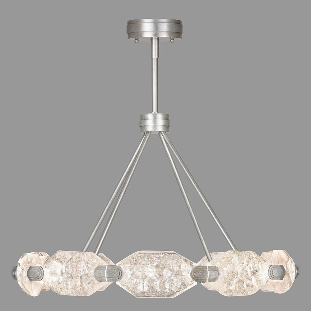 Most Recently Released Modern Silver Chandelier Inside Fine Art Lamps 873040 1St Allison Paladino Modern Silver Leaf Led (View 3 of 15)